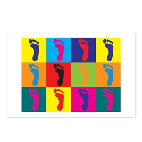 Podiatry Pop Art Postcards (Package of 8)