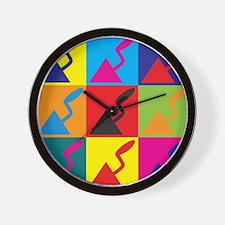 Plaster Pop Art Wall Clock