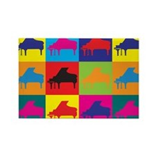 Piano Pop Art Rectangle Magnet
