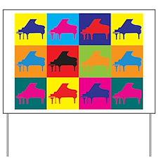 Piano Pop Art Yard Sign