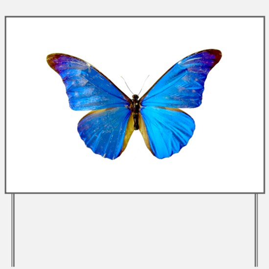 Blue Butterfly Yard Sign