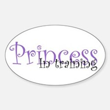 Princess in training Oval Decal