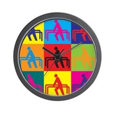 Physical Therapy Pop Art Wall Clock