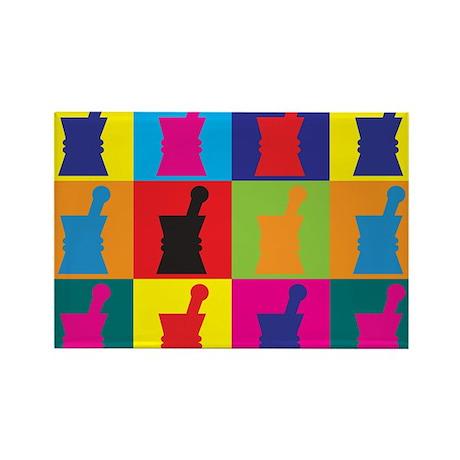 Pharmacology Pop Art Rectangle Magnet (10 pack)