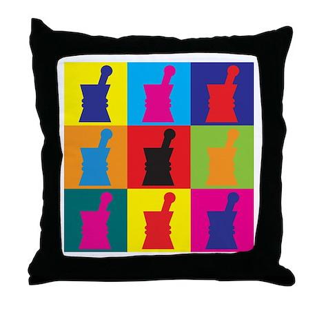 Pharmacology Pop Art Throw Pillow