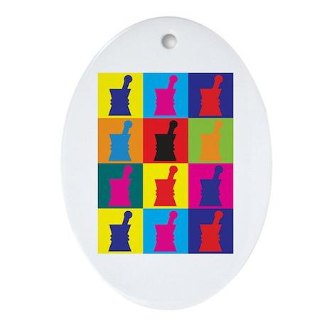 Pharmacology Pop Art Oval Ornament