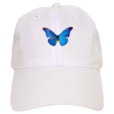 Blue Butterfly Baseball Cap