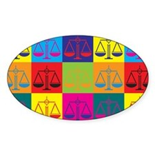 Patents Pop Art Oval Decal