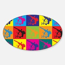 Paintball Pop Art Oval Decal
