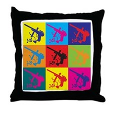 Paintball Pop Art Throw Pillow