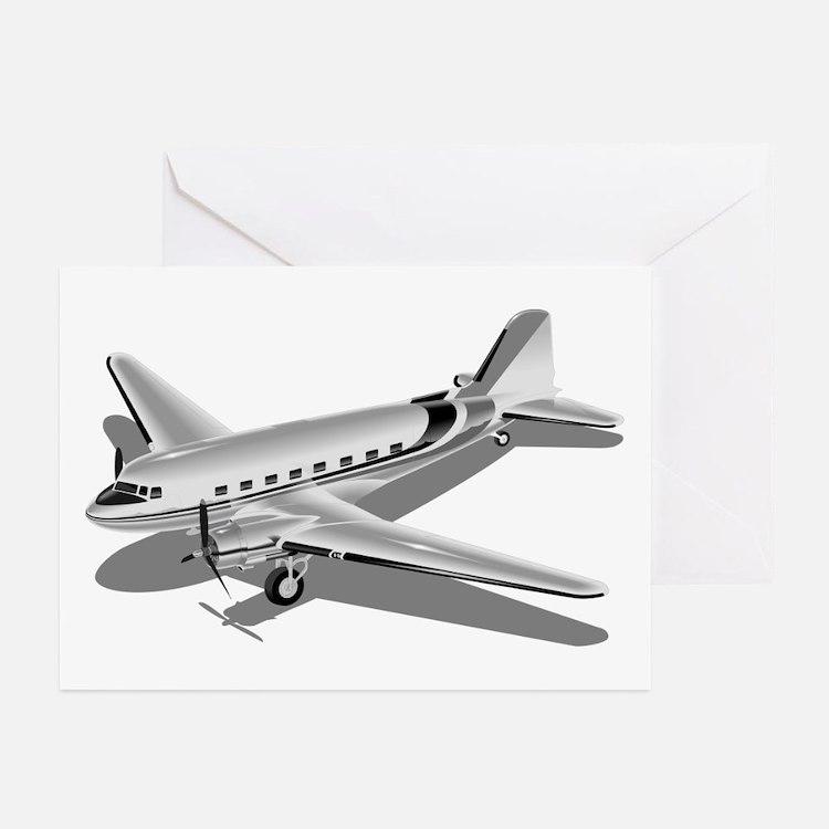 Douglas DC-3 Greeting Cards (Pk of 10)