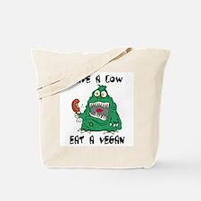 Save a cow, eat a vegan Tote Bag