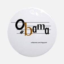 musical bar,Obama Ornament (Round)