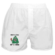 Save a cow, eat a vegan Boxer Shorts