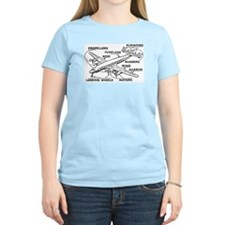 Aeroplane Diagram T-Shirt