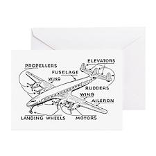 Aeroplane Diagram Greeting Cards (Pk of 10)