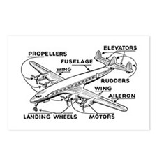 Aeroplane Diagram Postcards (Package of 8)