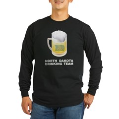 North Dakota Drinking Team Long Sleeve Dark T-Shir