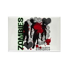 Zombies, I love zombies Rectangle Magnet