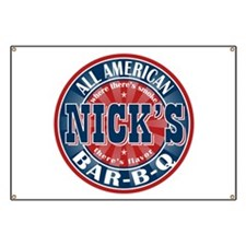 Nick's All American BBQ Banner