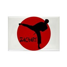 Zachary Martial Arts Rectangle Magnet