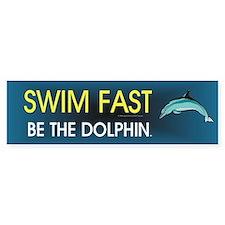 TOP Swim Slogan Bumper Sticker