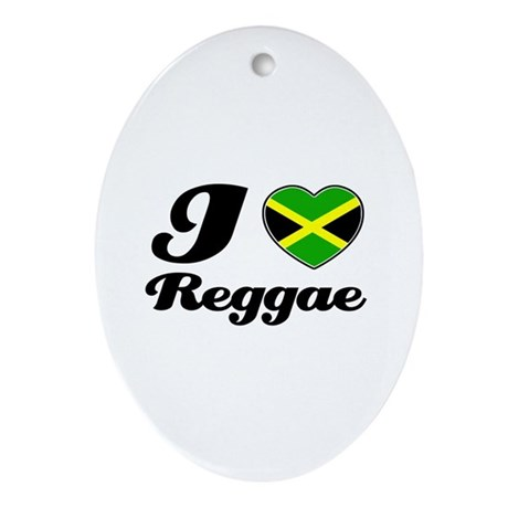 I love Reggae Oval Ornament