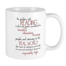 The Problem with Reading Small Mug