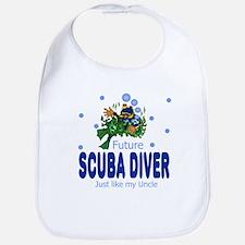 Future Scuba Diver Like Uncle Baby Infant Bib