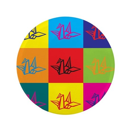 "Origami Pop Art 3.5"" Button (100 pack)"