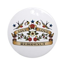 Live Love Residency Ornament (Round)