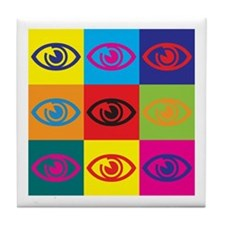 Optometry Pop Art Tile Coaster
