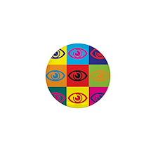 Optometry Pop Art Mini Button