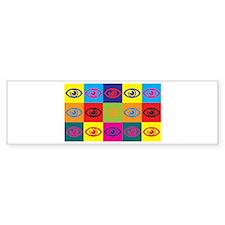 Optometry Pop Art Bumper Bumper Sticker