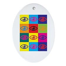 Optometry Pop Art Oval Ornament