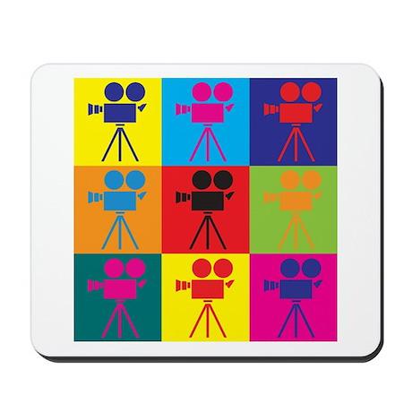 Operating a Camera Pop Art Mousepad