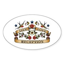 Live Love Reception Oval Decal