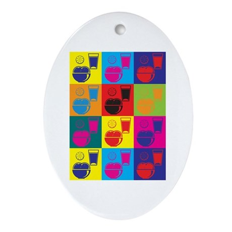 Nutrition Pop Art Oval Ornament