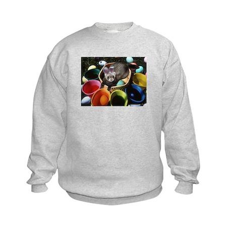 Easter Ferret Kids Sweatshirt