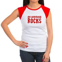 My Boyfriend Rocks Women's Cap Sleeve T-Shirt