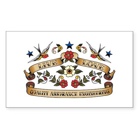 Live Love Quality Assurance Engineering Sticker (R