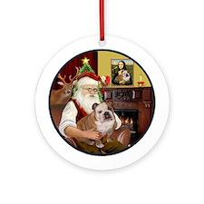 Santa's English Bulldog 1Ornament (Round)