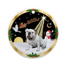 Night Flight/English Bulldog 1 Ornament (Round)