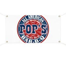 Pop's All American BBQ Banner