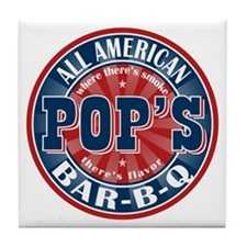 Pop's All American BBQ Tile Coaster
