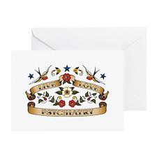 Live Love Psychiatry Greeting Card