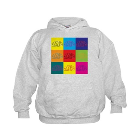 Neuroscience Pop Art Kids Hoodie