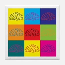 Neuroscience Pop Art Tile Coaster