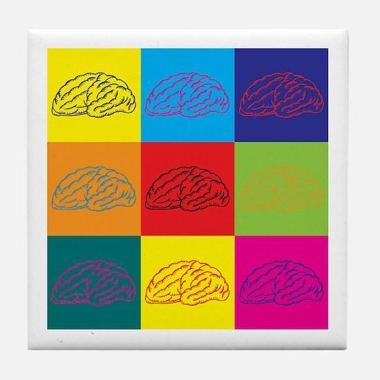 Neuroscience Pop Art Tile Coaster