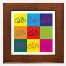 Neuroscience Pop Art Framed Tile